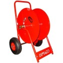 Hose reels on mobile frames